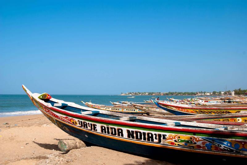 Canoes in Senegal